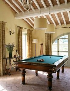 Formal living/dining rooms are often better used for pool tables ...