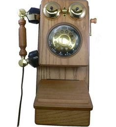 Golden Eagle Corded Phones Country Wood Corded Phone - Oak As Shown Traditional Decorative Objects, Golden Eagle, Real Wood, Accent Decor, Consumer Electronics, Clock, Country, Wall, Ebay