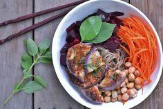 Vegan Magic Time: Mid-Week Noodle Bowls: Lemon Basil Soba with Pan-F...