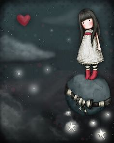 Want to discover art related to gorjuss? Check out inspiring examples of gorjuss artwork on DeviantArt, and get inspired by our community of talented artists. Santoro London, Kawaii, Cute Illustration, Stars And Moon, Belle Photo, Cute Art, Folk Art, Cute Pictures, Art Drawings