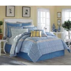 NEW King Size Laura Ashley Prescot Cotton 4-piece Comforter Set Cotton Classic P