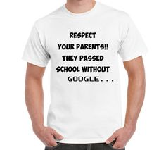 Respect Your Parents Funny Logo T Shirt TShirt by FreakyTshirtShop