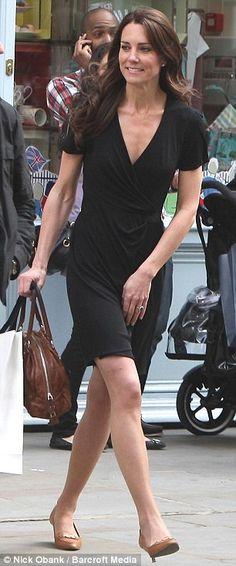 Enjoying her last days of freedom: Kate Middleton skips along the King's Road…