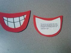 """""""Mouth magnets"""" for Ephesians 4:29"""