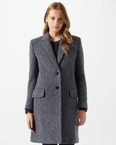 Herringbone City Coat