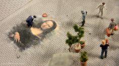 Mona Lisa Street Art -   Loxx Miniatur Welten