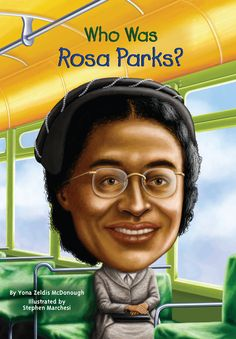 """In Rosa Parks refused to give her bus seat to a white passenger in Montgomery, Alabama. This seemingly small act triggered civil rights protests across America and earned Rosa Parks the title """"Mother of the Civil Rights Movement. Martin Luther King, Who Was Rosa Parks, Rosa Parks Book, Black History Month Activities, Teaching Social Studies, Thing 1, Children's Literature, African American History, American Women"""