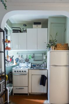 $300 Later, This Rental Kitchen Is No Longer Recognizable | Studio on rental office decorating ideas, studio apartment kitchen decorating ideas, rental apartment bedroom decorating ideas,