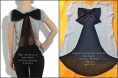 inspiration and realisation: DIY fashion blog: DIY Red Valentino bow on the back t-shirt