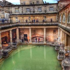 Roman Baths in Bath, Somerset, England