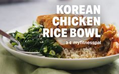 Brown rice adds filling fiber, while marinated chicken brings tons of flavor and is served alongside gut-healthy, fermented kimchi. A simple sesame kale