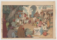 Snake Charmers, from the series, India and Southeast Asia, by Yoshida Hiroshi, 1931.