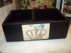 A personal favorite from my Etsy shop https://www.etsy.com/listing/245109925/shabby-black-crown-box-organizershabby