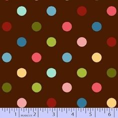 Spintastic dots on brown