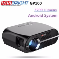 Original ViviBright Home Theater Projector 3500 Lumens High Brightness LED Video Projector Beamer For Business Bluetooth, Android, Full Hd Video, Home Theater Projectors, Built In Speakers, Led, Aliexpress, Vivid Colors, Home Theater