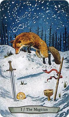 Hồi hộp Lá I. The Magician - Animal Totem Tarot bài tarot
