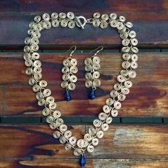 Silver plated spiral necklace set #littlewildthings #handmadejewelry #soumyaprakash #handmadenecklace #handmadeearrings #earrings #necklace #jewelrymaking
