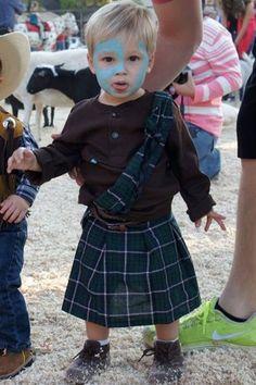 William Wallace Braveheart toddler kid Halloween costume