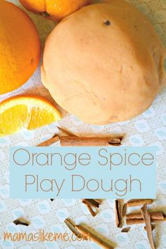 Orange Spice Play Dough - perfect for Fall and Winter sensory play! #playdough #sensoryplay #preschool