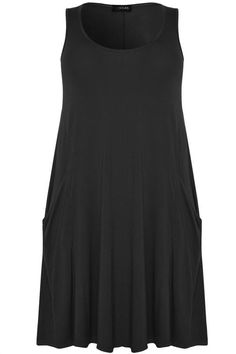 Buy Yours Curve Sleeveless Drape Pocket Dress from the Next UK online shop Plus Size Womens Clothing, Clothes For Women, Uk Online, Basic Tank Top, Pocket, Tank Tops, My Style, Dress Black, Women's Clothing