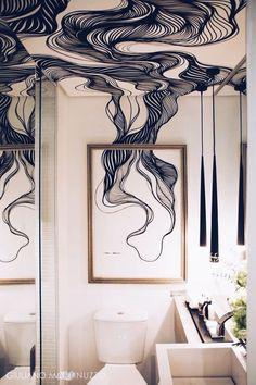 30 Tiny Bathroom Decor Ideas For Modern House Tiny House Design Bathroom Decor House ideas Modern Tiny Interior Architecture, Interior And Exterior, Home Interior, Interior Inspiration, Design Inspiration, Design Ideas, Deco Design, Wall Design, Ceiling Design