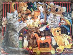 Ceaco Cats in the Toy Box Puzzle Review - Ivory Cats by Lesley Anne Ivory - News - Bubblews