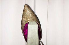 Vicky été Glitter, pinkinside.com Pointy Flats, Pink, Rose