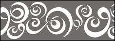 Click to see the actual BB79 - Squiggles stencil design.