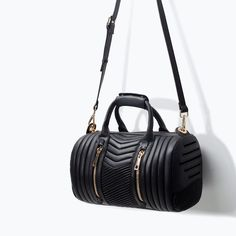 Image 4 of QUILTED BOWLING BAG from Zara
