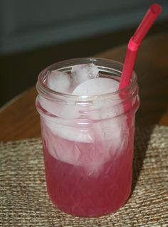 Pink Lemonade spiked with Sour Puss Raspberry Liquor...yum!!