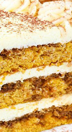 Pumpkin Tiramisu Layer Cake