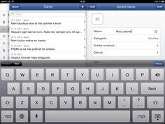 administrácia článku - iPad