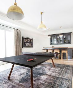 When I grow up, I am gonna have a ping pong table next to my wet bar! #clientradtrad up on the Notorious B.L.O.G // link in profile //  @tessaneustadt