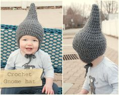 Lorajeans Magazine,: Tutorilal: How to crochet a baby gnome hat