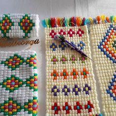 Kilim Desenli Lif Yapılışı - Third Tutorial and Ideas Crochet Flower Patterns, Crochet Blanket Patterns, Crochet Designs, Knitting Patterns, Crochet Afgans, Knit Crochet, Diy Throw Blankets, Basic Crochet Stitches, Arm Knitting
