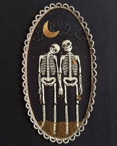 ️ *NFS Come live with me And won't you be my love Share my bread and wine halloween manualidades tinycup needleworks Hand Embroidery Stitches, Diy Embroidery, Cross Stitch Embroidery, Embroidery Patterns, Cross Stitch Patterns, Embroidery Tattoo, Halloween Embroidery, Diy Broderie, Cross Stitching
