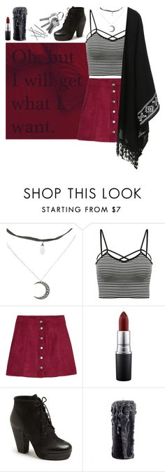 """make it so"" by septembrie ❤ liked on Polyvore featuring H&M, MAC Cosmetics, Steve Madden, witch, witchcraft, spell and magick"