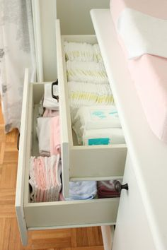 Organized changing table