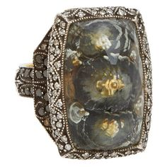 Sevan Bicakci Gold & Oxidized Sterling Silver Theodora Architecture Ring at Barneys.com