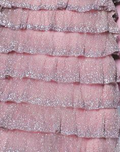 pink glitter ruffles