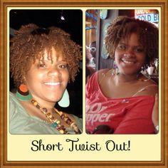 Short Twist Out