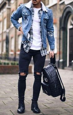 23 denim jacket outfits you& love - Tess Kaiser -.- 23 Jeansjacke-Outfits, die Sie lieben werden – Tess Kaiser – 23 denim jacket outfits you& love – Tess Kaiser – - Stylish Mens Outfits, Casual Outfits, Fashion Outfits, Style Fashion, Casual Jeans, Dress Casual, Cool Outfits For Men, Fashion Sites, Fashion Guide