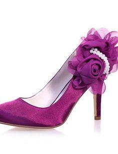 X&D Damen - Hochzeitsschuhe - Rundeschuh - High Heels - Hochzeit / Party & Festivität - Blau / Lila / Elfenbein / Weiß / Silber / Champagner - http://on-line-kaufen.de/tba/x-d-damen-hochzeitsschuhe-rundeschuh-high-heels