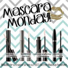 Mascara Monday!!! Trash the old mascaras and get a new and improved one!!!