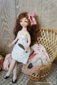 Купить Алиса. Текстильная подвижная кукла. Бохо. Авторская кукла - бежевый, авторская кукла