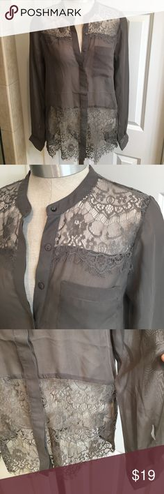 Daytrip button down woman's shirt Size S Daytrip Lace & polyester button down woman's Size S , good condition Daytrip Tops