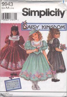 Simplicity 9943 Daisy Kingdom Dress Girls sizes 7-10