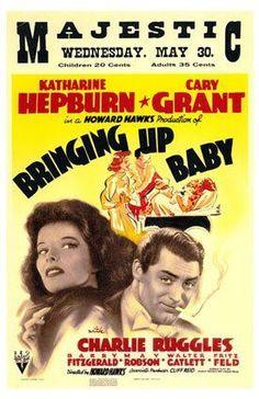 Bringing Up Baby, Katharine Hepburn, Cary Grant, 1938 Premium Poster Old Movie Posters, Baby Posters, Classic Movie Posters, Classic Movies, Vintage Posters, Theatre Posters, Music Posters, Old Movies, Vintage Movies