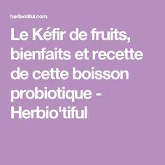 Le Kéfir de fruits, bienfaits et recette de cette boisson probiotique - Herbio'tiful