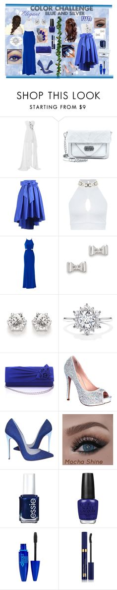 """""""BLUE_SILVER"""" by zafia-13 ❤ liked on Polyvore featuring Linea Pelle, Miss Selfridge, Badgley Mischka, Marc by Marc Jacobs, OPI, Disney, Lauren Lorraine, Christian Louboutin, Essie and Maybelline"""